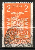HONGRIE  Foire De Budapest 1937 N°484 - Hongrie