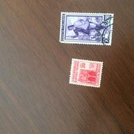 ITALIA MONUMENTI DISTRUTTI RSI ROSSO - Stamps