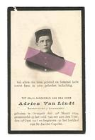 WO 31.   ADRIEN VAN LINDT - Soldaat 7e Linieregiment - °OVERPELT 1894 /+aan De YZER 1915 / Begraven St-Jacobs Capelle - Images Religieuses