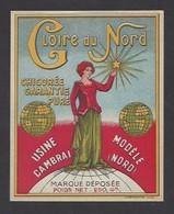 Etiquette Chicorée  -  Gloire Du Nord  -  Usine à Cambrai  (59) - Labels