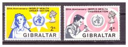 GIBILTERRA - 1968 - VENTENNALE DELLA O.M.S. SERIE COMPLETA. - MNH** - Gibilterra