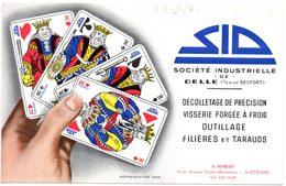 Buvard S.I.D. Société Industrielle De Delle (Ter. De Belfort) Décolletage, Visserie, Outillage. - Blotters