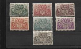 CONGO BELGE  1935 COB 185-191 LES ROIS  MNH/** - Congo Belge