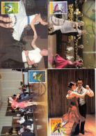 België, Maximumkaarten, Nr 3566/3570, Rock And Roll, Wals, Samba, Tango, Cha-cha-cha (6415) - Danse