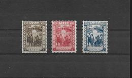 CONGO BELGE  1936 COB 194-196  MH/* - Congo Belge