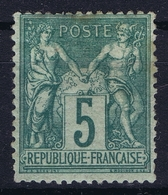 France: Yv  64 MH/* Flz/ Charniere  1876 Left Top Is Thin - 1876-1878 Sage (Type I)