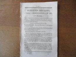 BULLETIN DES LOIS ORDONNANCES N°181 24 SEPTEMBRE 1832 PONT SUSPENDU SUR LA CREUSE A LA ROCHE-POSAY,TARIF VIENNE BACS ET - Decrees & Laws