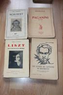 4 Livres Sur Paganini, Beethoven, Schubert, Liszt - Livres, BD, Revues