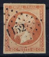 France: Yv  16 Cachet PC 1152  Dunkerque  1853 - 1853-1860 Napoléon III