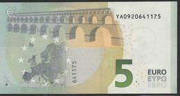 € 5 GREECE  Y001 F4  DRAGHI  UNC - EURO