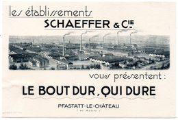 Buvard Etablissements Schaeffer & Cie à Pfastatt Le Chateau (Ht.Rhin). - Blotters