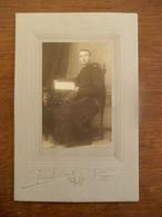 Antieke Foto Op Grijs Karton    Door Fotograaf            J .  VANBRABANT    LOKEREN - Photographs