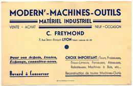 Buvard Modern'-Machines-Outils. Matériel Industriel. C.Freymond à Lyon. - Blotters