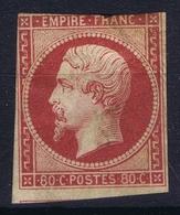 France: Yv  17 A MH/* Flz/ Charniere  Has A Thin - 1853-1860 Napoléon III.