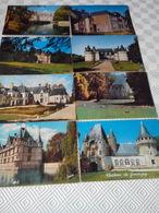 LOT DE 120 CPM/CPSM.GF. UNIQUEMENT DES CHATEAUX - Postcards
