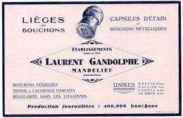 Buvard Fabrique De Bouchons Laurent Gandolphe à Mandelieu. - Blotters