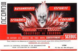 Buvard S.C.E.D.U.C. Société De Contrôle Pour L'utilisation Du Charbon à Lyon. - Buvards, Protège-cahiers Illustrés