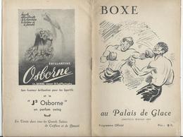 PARIS - BOXE Au Palais De Glace Réunion Du 25 Février - 12 Pages Nombreuses Pub. Dont Banania Et Bar Américain - Programs