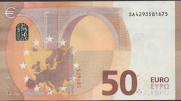 """50 EURO ITALIA  SA  S017  Ch. """"29""""  - DRAGHI   UNC - EURO"""