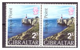 GIBILTERRA - 1970 - PUNTA EUROPA. COPPIA. - MNH** - Gibilterra