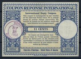 HAWAII 1951, London Type XV 11 CENTS USA International Reply Coupon Reponse Antwortschein IAS IRC O HONOLULU 18.09.1951 - Hawaii