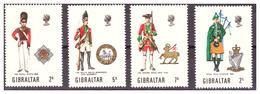 GIBILTERRA - 1970 - UNIFORMI MILITARI. 2A SERIE. SERIE COMPLETA. - MNH** - Gibilterra