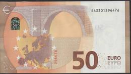 """50 EURO ITALIA  SA  S012  Ch. """"30""""  - DRAGHI   UNC - EURO"""