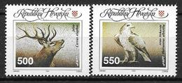 Croatie 1993 N° 184/185 Neufs Animaux Cerf Et Rapace - Croatia