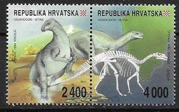 Croatie 1994 N° 224/225 Neufs Animaux Préhistoriques - Croatia