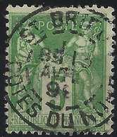 1898 Sage N°106 Obl 5c Vert/jaune N/U Oblitéré Dateur De St Brieuc Superbe !! - 1898-1900 Sage (Type III)