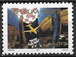 Croatie 1991 Posta Aérienne N° 3 Neuf Liaison Zagreb- Pula - Croatia