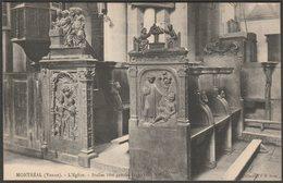 Stalles Côté Gauche, L'Église, Montréal, Yonne, C.1910s - J D Sens CPA - Montreal