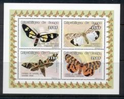 Congo 1999 Insects, Moths MS MUH - Democratic Republic Of Congo (1997 - ...)