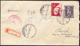 CROATIA - HRVATSKA - NDH - Recomm. Letter + Cenzur  No. 45  OSIJEK - 1944 - Croatia
