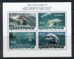 Samoa 1997 Marine Life Dolphins, Greenpeace MS MUH - Samoa
