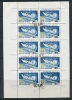 South East Asia 1966 Luna 10 Space Flight 40ch Sheetlet CTO - Korea, North