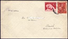 CROATIA - HRVATSKA - NDH  -  Letter  ASTRONOM RUDJER BOSKOVIC - ZAGREB To OSIJEK - 1944 - Croatia