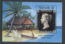 Tokelau Is 1990 Penny Black Anniversary MS MUH - Tokelau