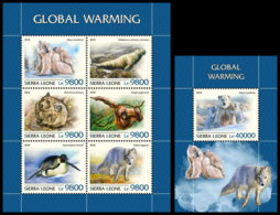 SIERRA LEONE 2018 **MNH Global Warming Erderwärmung Réchauffement Climatique M/S+S/S - IMPERFORATED - DH1844 - Environment & Climate Protection