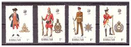 GIBILTERRA - 1969 - UNIFORMI MILITARI. 1A SERIE. SERIE COMPLETA. - MNH** - Gibilterra