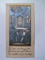 Oud Prentje Op  CELLULOID Afm. 12,5 Cm . Op 6,5cm. - Religion & Esotericism