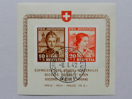 1941, Pro Juventute Block Gest. Bern Postmuseum, Attest - Pro Juventute