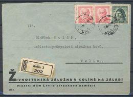 Tchécoslovaquie 1945, Lettre Récommandé Avec Publicité - Brieven En Documenten