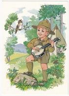 SCOUTING:  BOY SCOUT With Banjo - (Cserkészjelenet, Hungaria) - Scouting