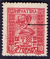 "CROATIA - HRVATSKA - SHS - ERROR  ""white Line""  - LISTOPAD - **MNH - 1918 - Croatia"