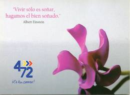 Lote PEP1096, Colombia,  Postal, Postcard, Orchid, 4-72, Orquidea, Frase De Einstein - Colombia