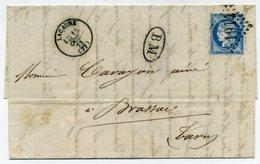 Lettre Avec N° 60  + Cachet GC 1914  Lacaune + BM De La Diligence Castres / Murat Vabre  1873 - 1849-1876: Periodo Classico