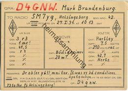 QSL - QTH - D4GNW - Mark Brandenburg - 1931 - Amateurfunk