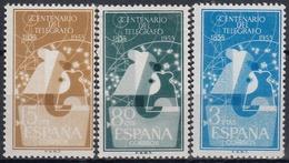 ESPAÑA 1955 Nº 1180/82 NUEVO PERFECTO - 1951-60 Usados