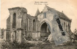 CPA WEZ L'église Guerre 1914-1919 - Unclassified